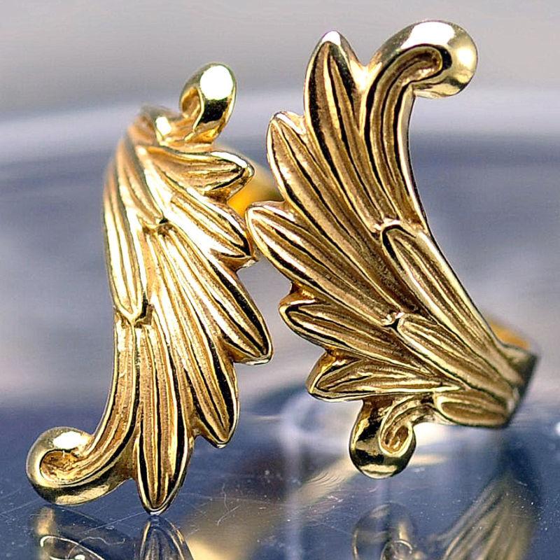 LOOK Final Fantasy 8 Rinoa Siren wings Ring 24kt gold plated