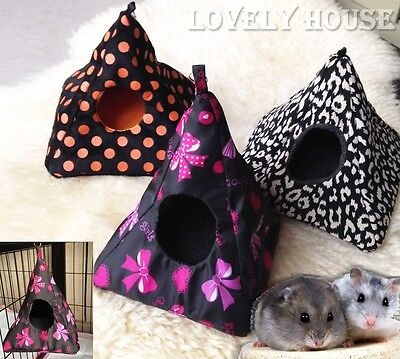 Hammock for Rat Hamster Mouse Mice Small Bird Squirrel Hanging Bed Toy House
