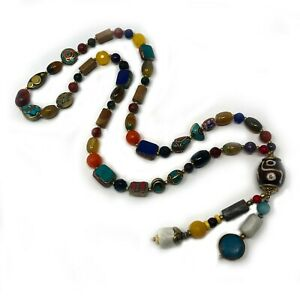 Gemstone-Necklace-32-034-Unisex-Women-Men-Handmade-One-of-a-Kind-Statement-NB03d