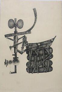 Drawing by Juan Carlos Fuentes. Untitled. Original Signed. Cuban Art