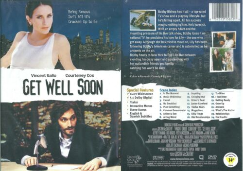 1 of 1 - GET WELL SOON, Vincent Gallo, Courtney Cox, Romantic Comedy, DVD NEW & Sealed