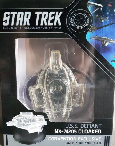 Star Trek U.S.S Defiant NX-74205 Cloaked Starship CONVENTION EXCLUSIVE EAGLEMOSS