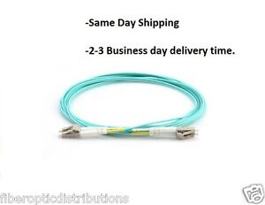 3m-LC-LC-Duplex-50-125-Multimode-10-Gb-Fiber-Patch-Cable-Aqua-om3-0759
