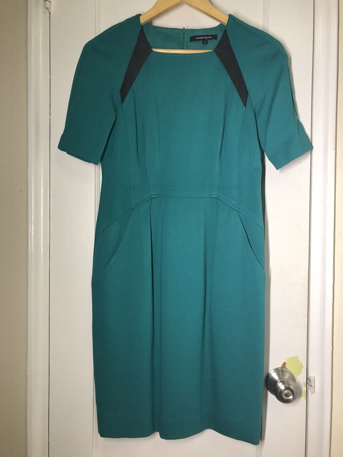 Nanette Lepore Teal Stretch Fitted Dress