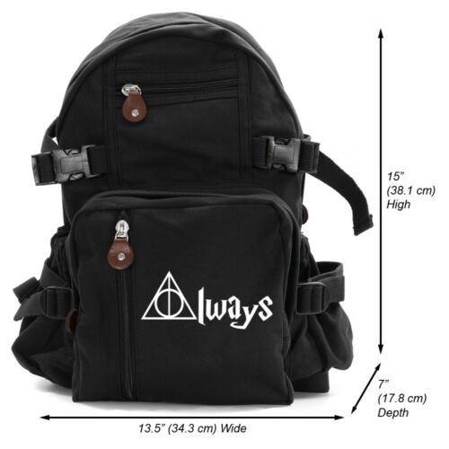 Grab A Smile Always Harry Potter Decal Heavyweight Canvas Backpack Bag