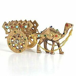 Home Decorative Rajasthani Gemstone Brass Camel Handicraft