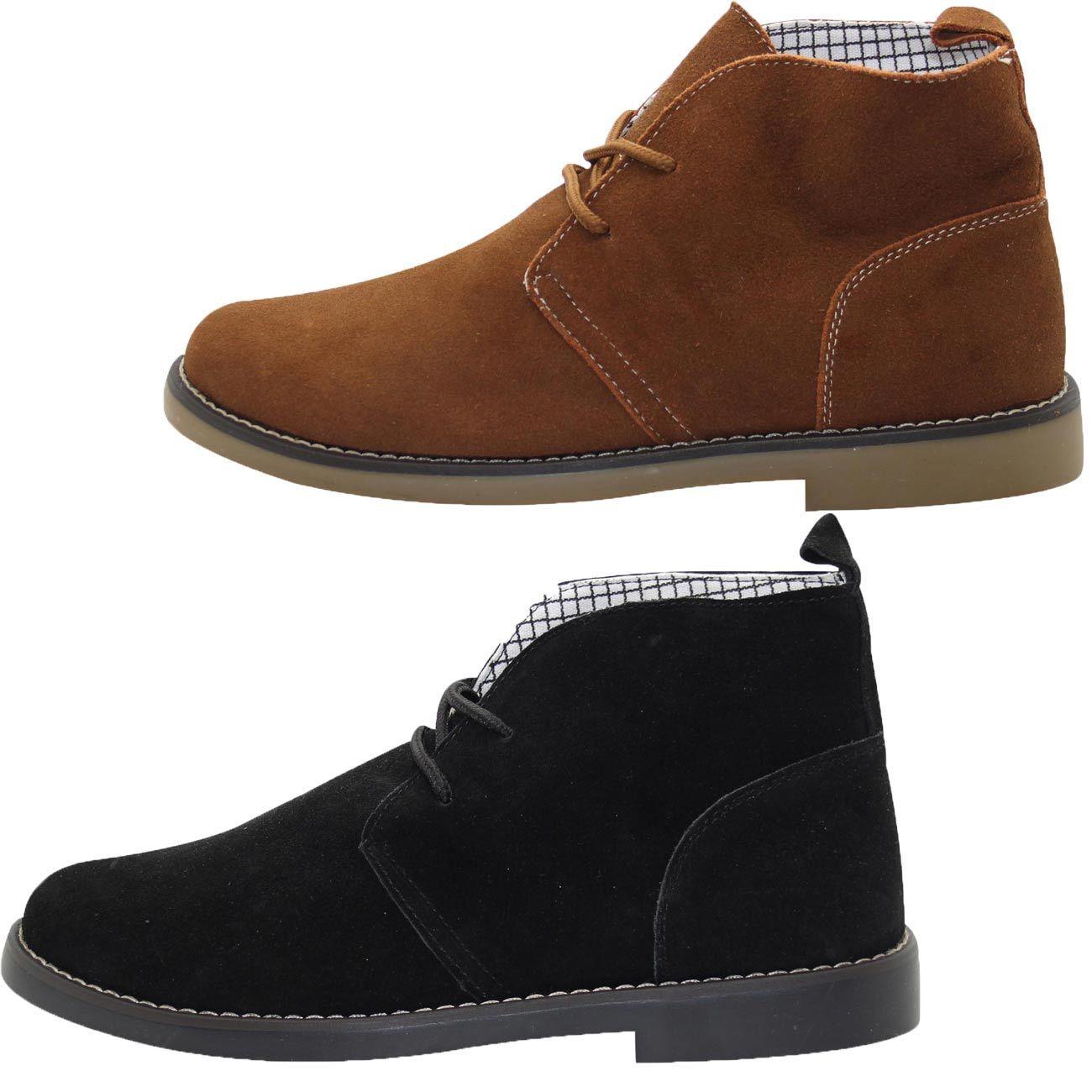 Original Herren Kunst Leder Wüste Stiefel Top Qualität Slip auf Knöchel Eu Größe