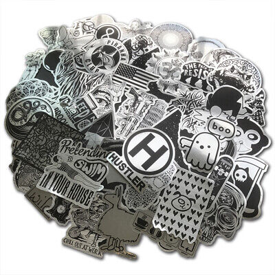 100Pcs Holo Motorcycle Stickers bomb Luggage Laptop Skateboard Dope Decals Lot