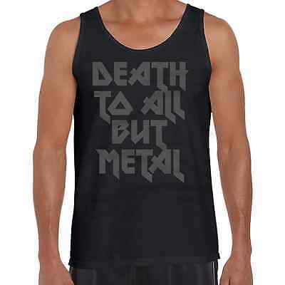 Death To All But Metal Music Band Mens Vest Funny Novelty Singlet Tank Top