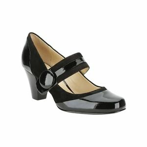 Clover Ladies Patent Clarks 5 Tamaño suede Combo In Shoes Uk7 Black Alpine EYppw7q5
