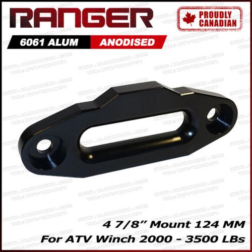 "Ranger Alum Hawse Fairlead For 2000-3500 ATV Winch 4 7//8/"" Mount Black 124MM"