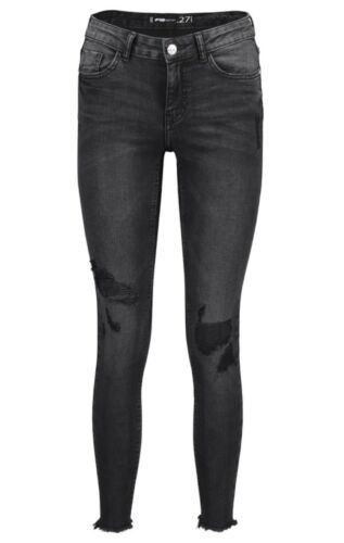 Ladies Branded Teenagers Ribbed Super Strechy Skinny Denim Bottom Less Jeans