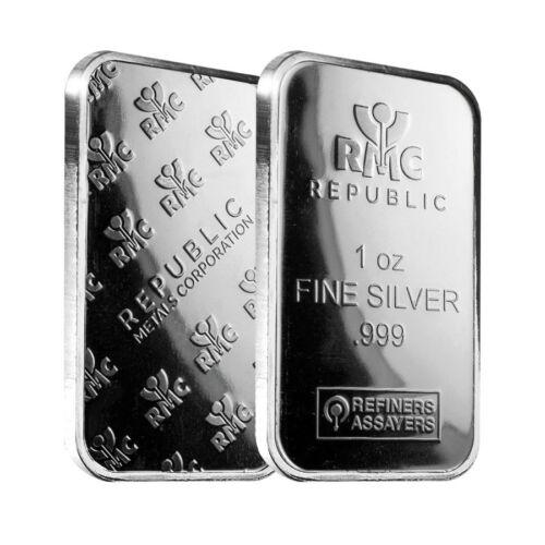 RMC 1 oz Republic Metals Silver Bar .999 Fine