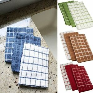 NEW-Ritz-Terry-Cotton-3-Pack-Kitchen-Towels-Highly-Absorbent-25-034-x-15-034-3-Pk