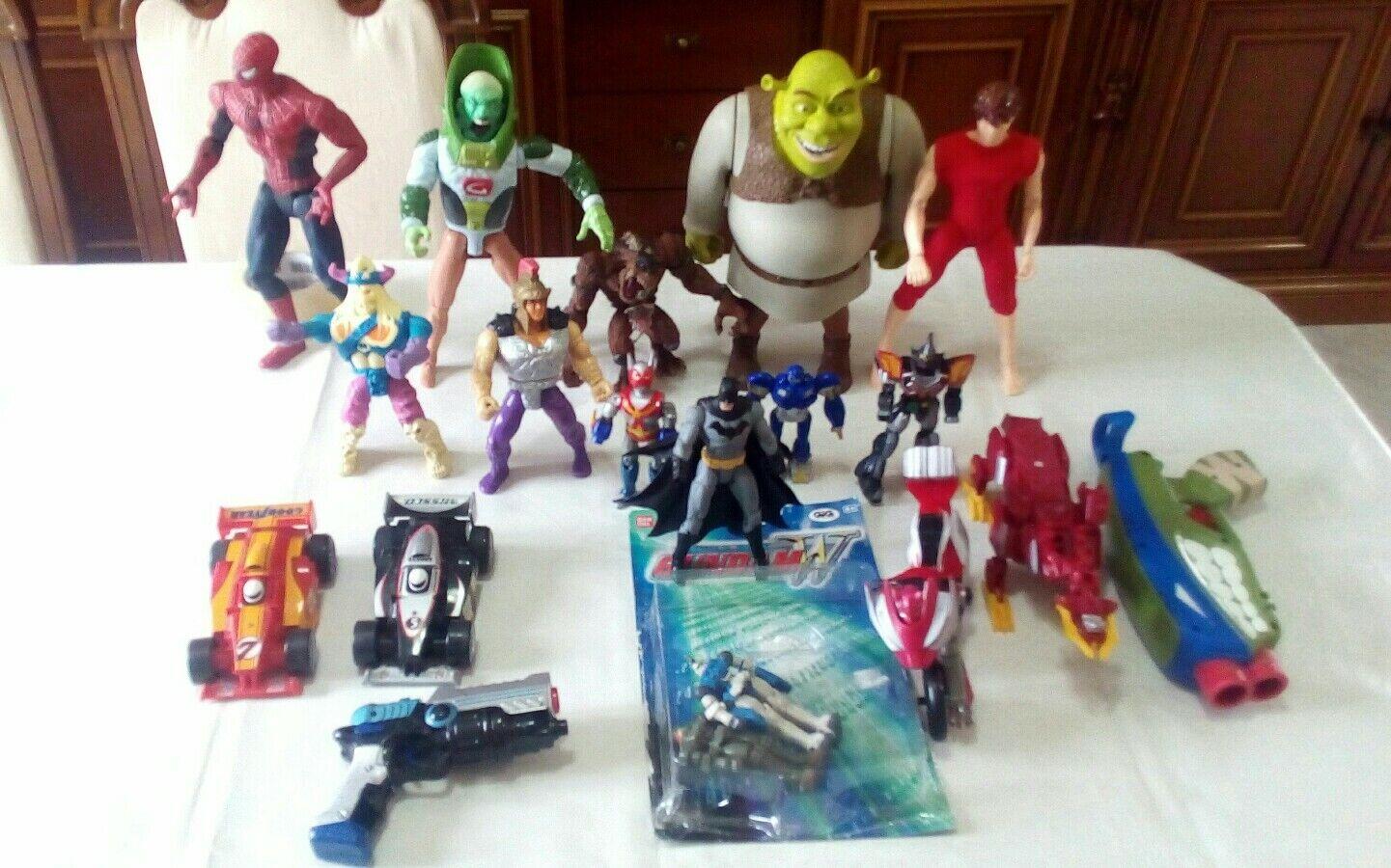 Stock giocattoli Shrek Pegasus Batman Spiderman Turtles GIG transformers vintage