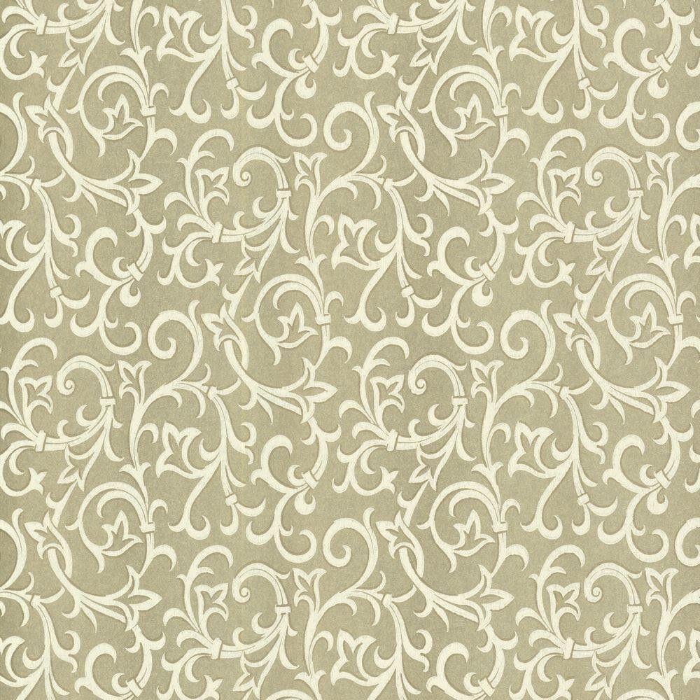 1602-103-03 - Avington Entwined Schnörkeln Creme-Gold 1838 Tapete
