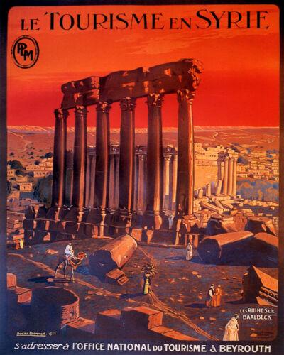 "Syria Syrie Beirut Lebanon Camel Arabic Arab 16/""X20/"" Vintage Poster FREE S//H"