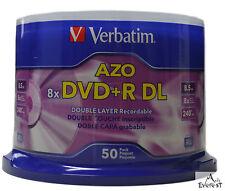 Verbatim DVD+R DL 8.5GB 8X Logo 50pk ID-MKM003 Xbox 360 Comp 97000