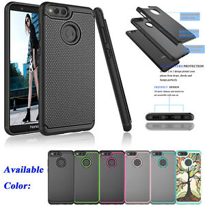 best service 269b6 274c9 Details about For Huawei Honor 7X / MATE SE Shockproof Hybrid Rugged Rubber  Hard Case Cover