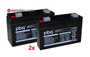 Akkus 2 Stück Pbq 3.5-4 4v 3,5ah Kompatibel Sonnenschein A504 3,5s Akku Handlampe Den Speichel Auffrischen Und Bereichern Heimwerker