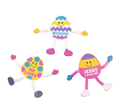 Easter Egg Faith Bendables Set of 3 *Free Shipping Buy More Save More*