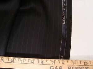 4-44-yd-HOLLAND-SHERRY-Wool-Fabric-12-oz-Luxury-worsted-Suiting-Black-160-034-BTP