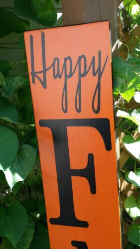 "Fall Porch Sign Happy Fall Ya/'ll Rustic Wood 60/"" Primitive Distressed Sign 5 Ft"