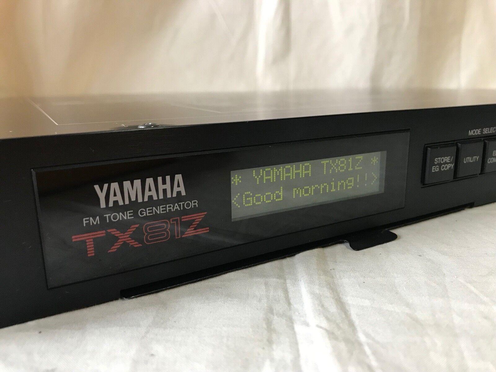 YAMAHA TX81Z FM TONE GENERATOR SYNTHEGrößeR RACK MOUNT New internal battery