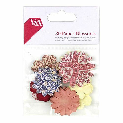 Paper Flower Blossoms 30pcs Victoria /& Albert Royal British Craft Collection