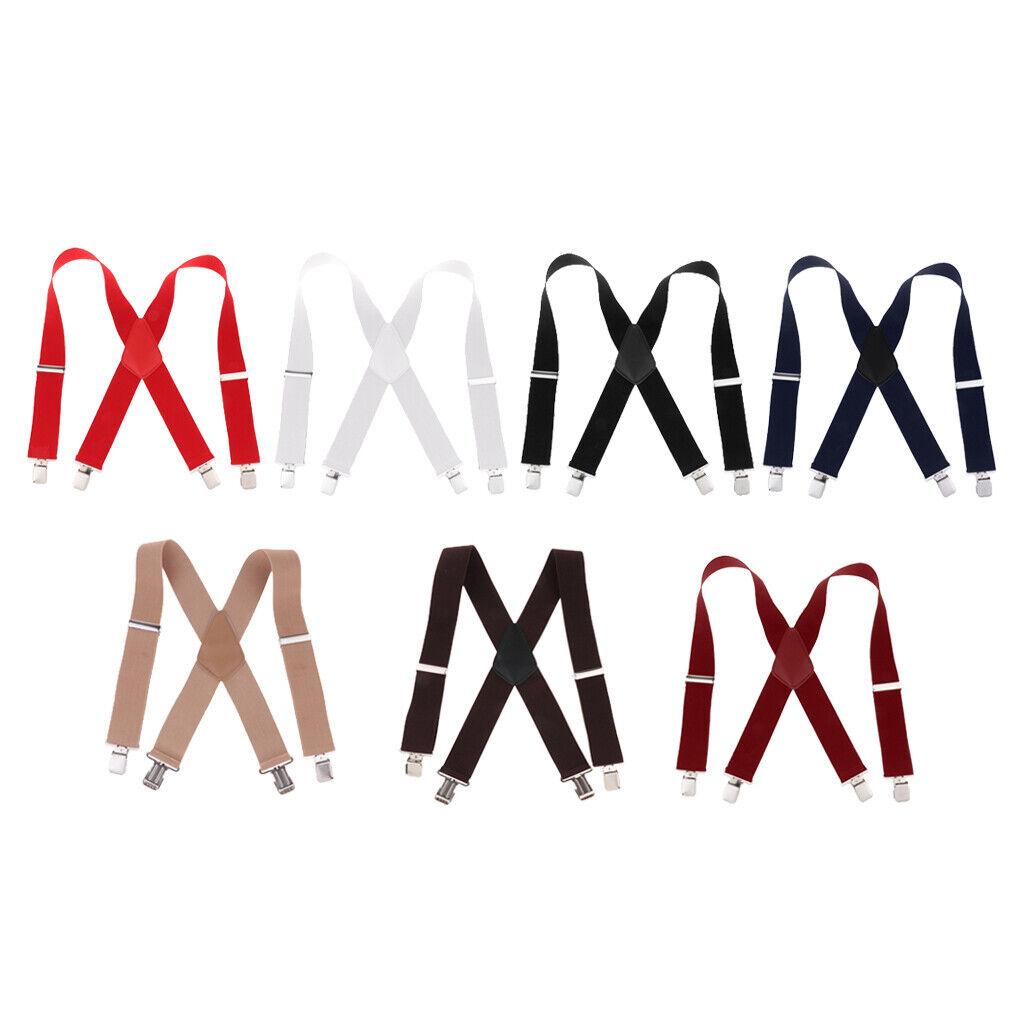 Suspenders W/ Heavy Duty Clips&X Back