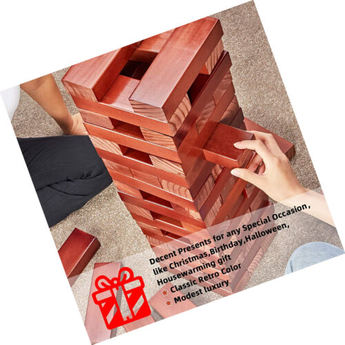 Details about  /Giant Tumble Wooden Tower Wood Stacking Block W// Bag Family Party Fun Games 5FT
