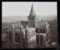 Glass Magic Lantern Slide ROCHESTER CATHEDRAL C1890 ENGLAND L94
