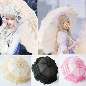 Girl's Cosplay Anime Lace Umbrella Princess Parasol Sun/Rain Anti-UV Umbrella
