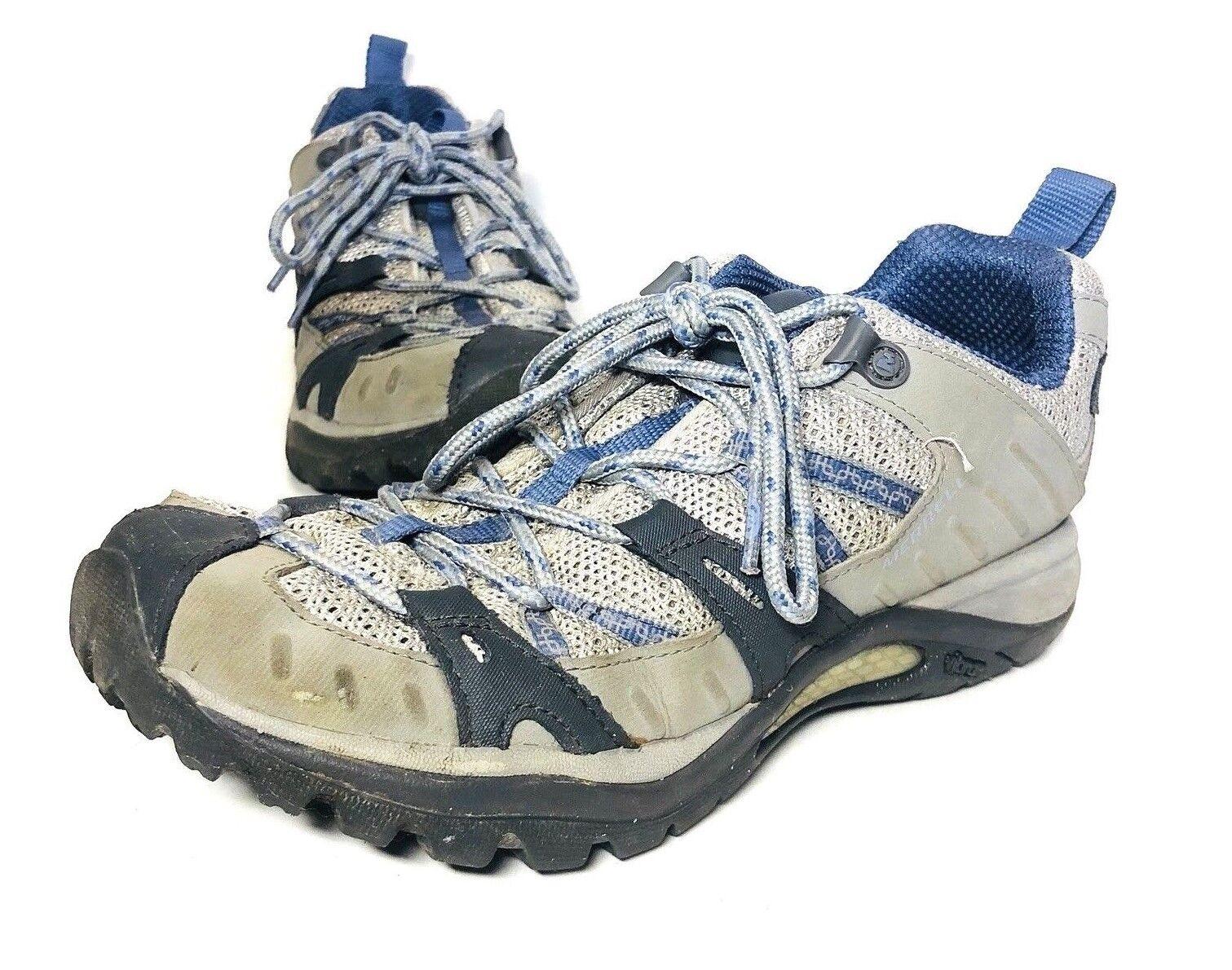 Merrell Siren Port Grey bluee Running Trial Hiking shoes Vibram Women's Size 7