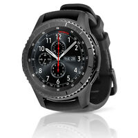 Samsung Gear S3 Frontier Verizon Silicone Band Smartwatch (Large,Black) - Refurbished