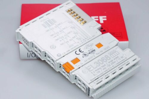 BECKHOFF EL3068  8-Kanal-Analog-Eingangsklemme 0-10V SI-END 12BIT 1-LEI OVP