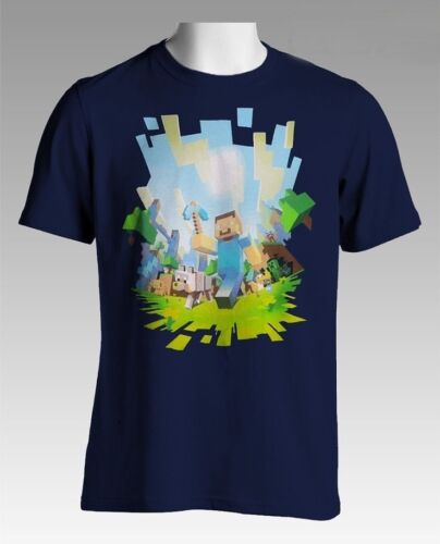 Minecraft Adventure Navy Youth/'s Official Licensed T-Shirt
