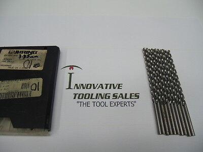 "3.1mm Extra Length Guhring 217 HSS Taper Length Drill Bits Pack Of 10 .122"""