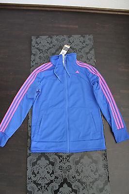 Adidas Jacke mit pinken Streifen