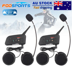 2x-1200M-Motorcycle-Intercom-6-Riders-Communication-BT-Helmet-Headset-Bluetooth