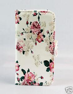 Samsung-Galaxy-S8-G950-Case-Flip-Cover-Etui-Tasche-Huelle-Blumen-Rosen-Motiv