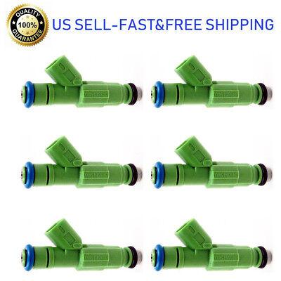 6 Pcs Fuel Injectors for Dodge Caravan Chrysler 3.3L 812-12141 Flow Matched