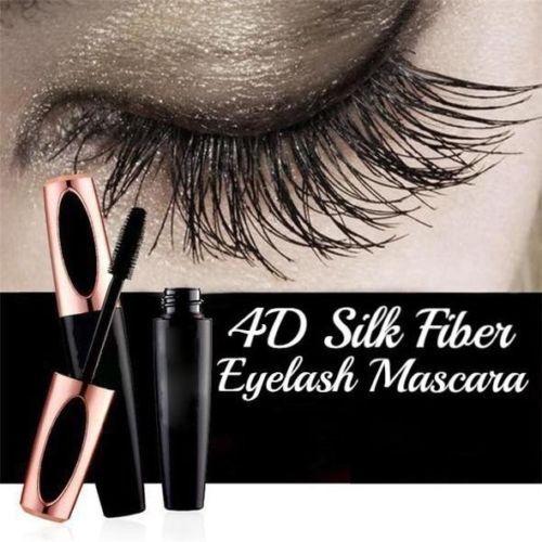 4D Silk Fiber Eyelash Mascara Extension Makeup Black Waterproof Kit Eye-Lashes