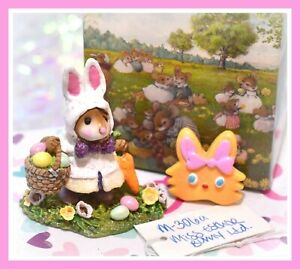 Wee-Forest-Folk-Miss-Esther-Bunny-M-306a-Mouse-Easter-LIMITED-Edition-WFF
