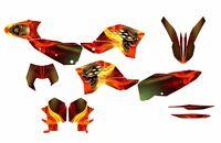 Ktm Exc Xcf 125 250 300 450 530 Graphics 2008 2009 2010 2011 Design No6666n