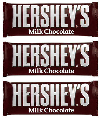 3 x Hershey's American Milk Chocolate Bar 43g Free UK Delivery