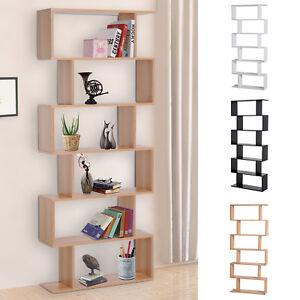Estantería Librería 6 Estantes Comedor Salón Diseño Moderno Pared ...