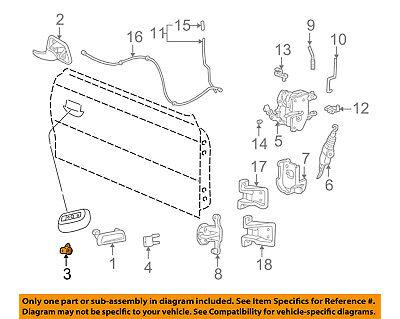 FORD OEM 96-04 Mustang-Door Lock Cylinder F8ZZ6321990AA