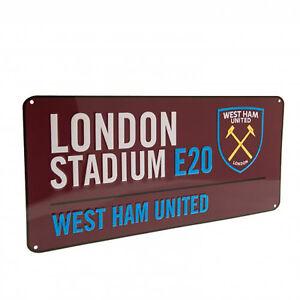 West Ham United F.C - rue signe (CL) - Cadeau/plaque  </span>