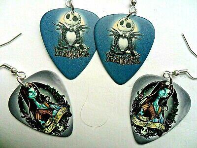 NEW Nightmare Before Christmas Jack and Sally Guitar Pick Earrings 3 To Choose | eBay